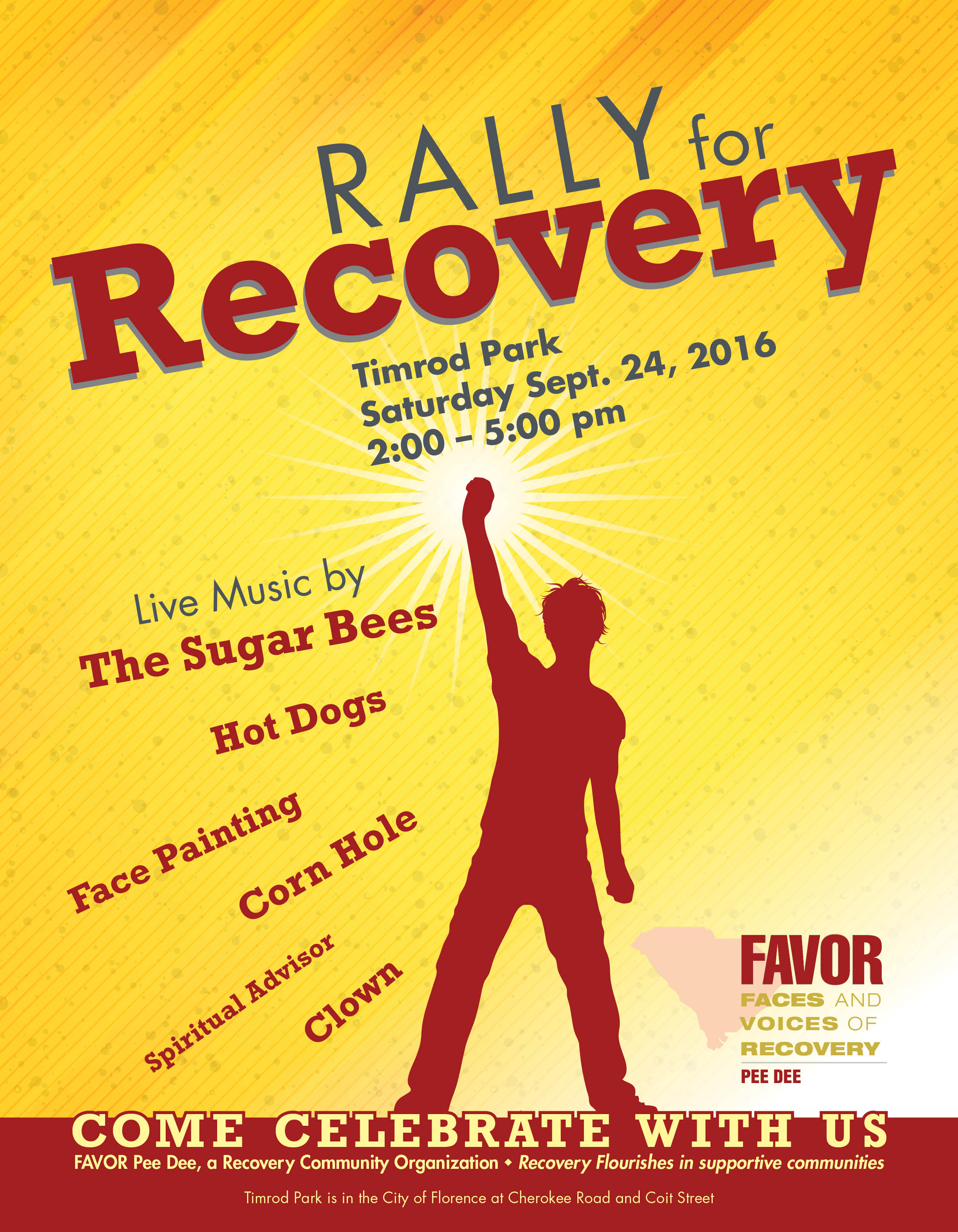 Rally for Recovery Pee Dee @ Timrod Park | Florence | South Carolina | United States